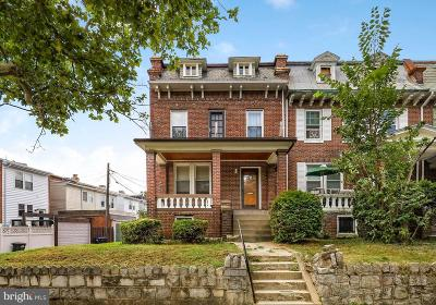 Columbia Heights Townhouse For Sale: 616 Quebec Place NW