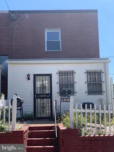 Washington DC Single Family Home For Sale: $220,000