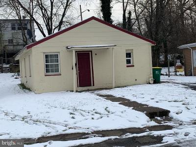 Wilmington DE Single Family Home For Sale: $80,000