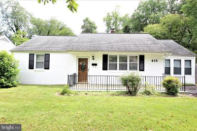 Wilmington Single Family Home For Sale: 418 Prospect Avenue