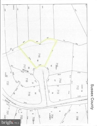 Sussex County Residential Lots & Land For Sale: Lot 19 Cedar Ct.