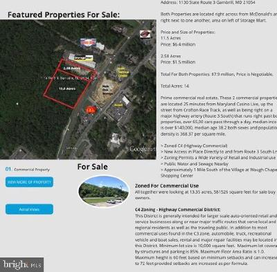 Odenton Residential Lots & Land For Sale: Crain Hwy