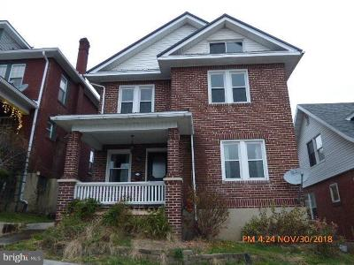 Cumberland MD Single Family Home For Sale: $105,900