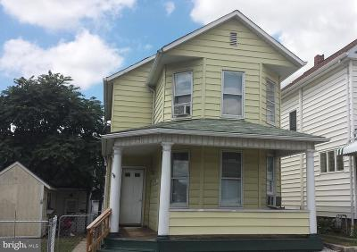 Cumberland MD Single Family Home For Sale: $72,900
