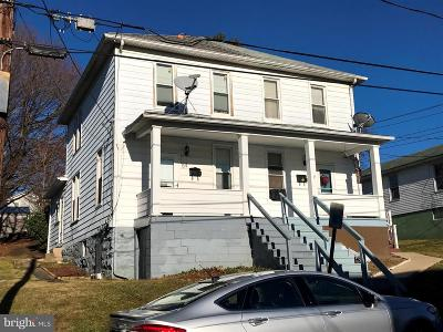 Frostburg Single Family Home For Sale: 54 McCulloh Street