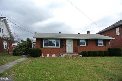 Cumberland MD Single Family Home For Sale: $119,000