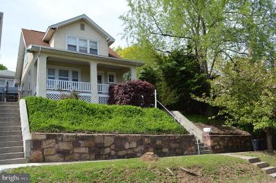 Cumberland MD Single Family Home For Sale: $105,000