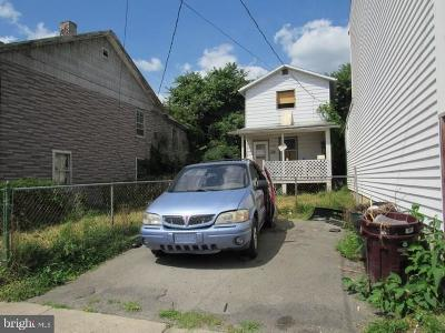 Cumberland MD Single Family Home For Sale: $19,800