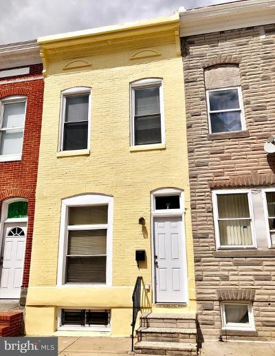Patterson Park Townhouse For Sale: 3338 E Baltimore Street