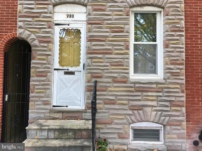 Baltimore Townhouse For Sale: 733 S Luzerne Avenue
