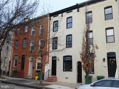 Canton Townhouse For Sale: 611 S Patterson Park Avenue