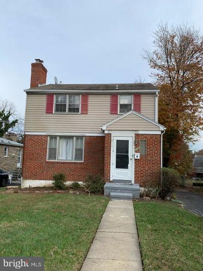 Baltimore City Single Family Home For Sale: 6007 Carter Avenue