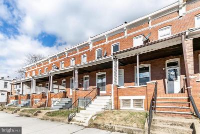 Baltimore City Townhouse For Sale: 1608 E 28th Street