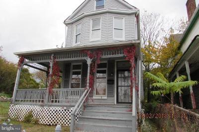 Baltimore MD Single Family Home For Sale: $79,900