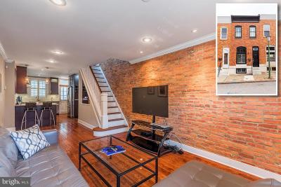 Baltimore City Townhouse For Sale: 637 S Curley Street