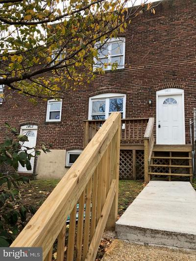 Baltimore City Townhouse For Sale: 1411 Filbert Street