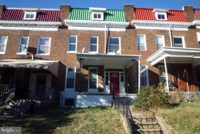 Baltimore City Townhouse For Sale: 2812 Norfolk Avenue