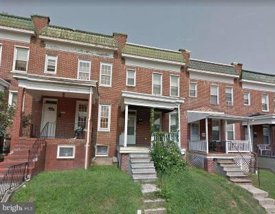 Baltimore Townhouse For Auction: 756 N Edgewood Street