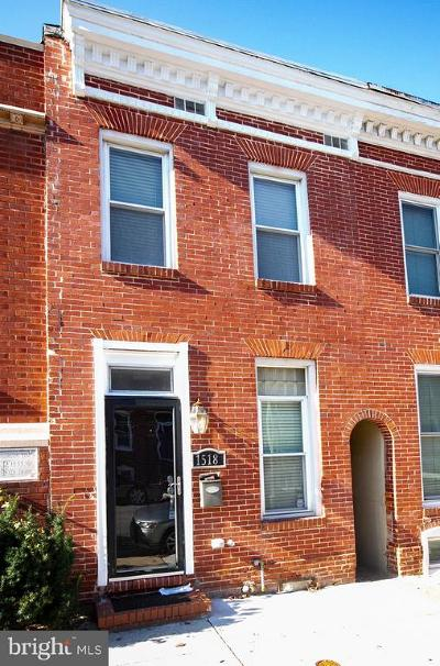 Baltimore City Townhouse For Sale: 1518 Battery Avenue