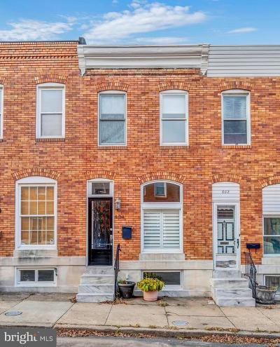 Baltimore City Townhouse For Sale: 604 S Decker Avenue