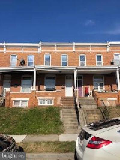 Baltimore City Townhouse For Sale: 1606 E 29th Street E