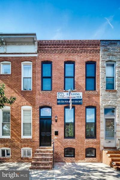 Baltimore Townhouse For Sale: 3106 O'donnell Street