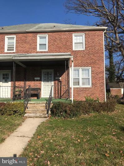 Baltimore Single Family Home For Sale: 3806 Echodale Avenue