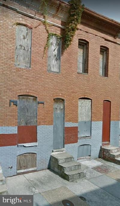 Baltimore Townhouse For Sale: 621 N Brice Street
