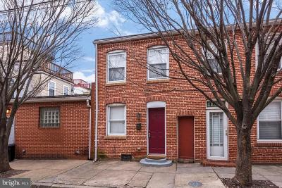 Baltimore Townhouse For Sale: 512 S Port Street