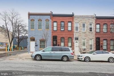 Baltimore Townhouse For Sale: 2412 E Fairmount Avenue