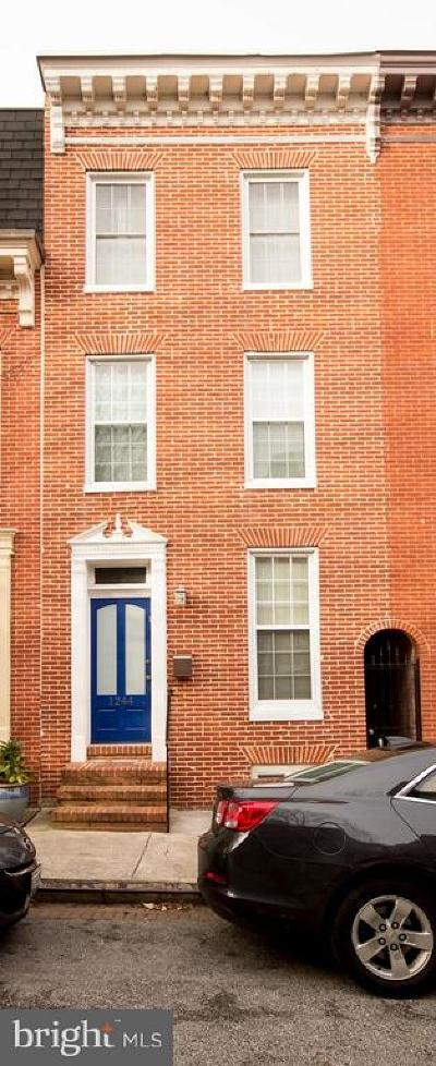 Baltimore City Townhouse For Sale: 1244 William Street