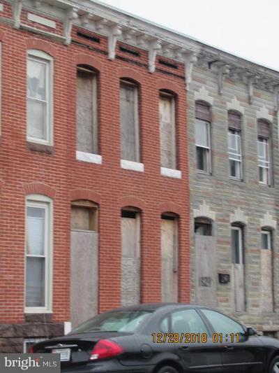 Baltimore MD Townhouse For Sale: $23,000