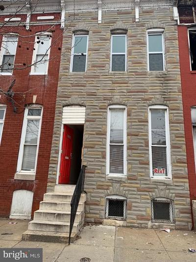Baltimore Townhouse For Sale: 2134 Wilkens Avenue