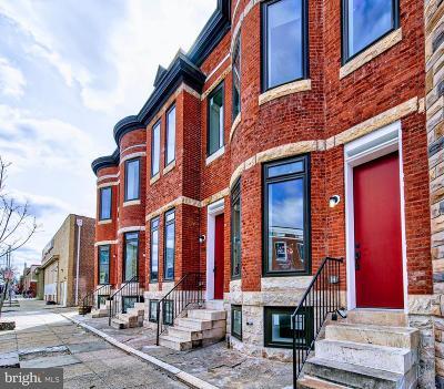 Baltimore Townhouse For Sale: 722 N Patterson Park Avenue