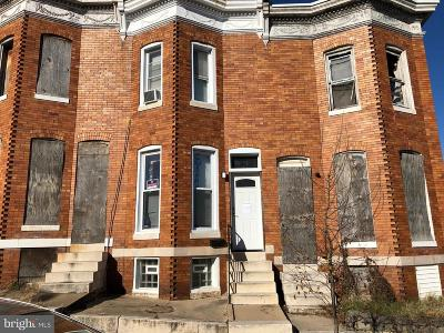 Baltimore City Townhouse For Auction: 2502 Hollins Street