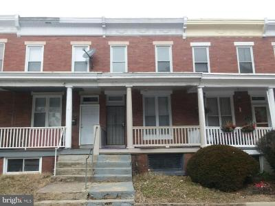 Mondawmin Townhouse For Sale: 2220 Walbrook Avenue