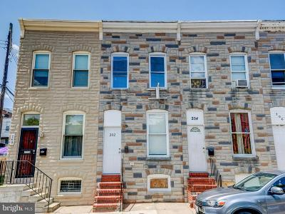 Patterson Park Townhouse For Sale: 202 N Glover Street