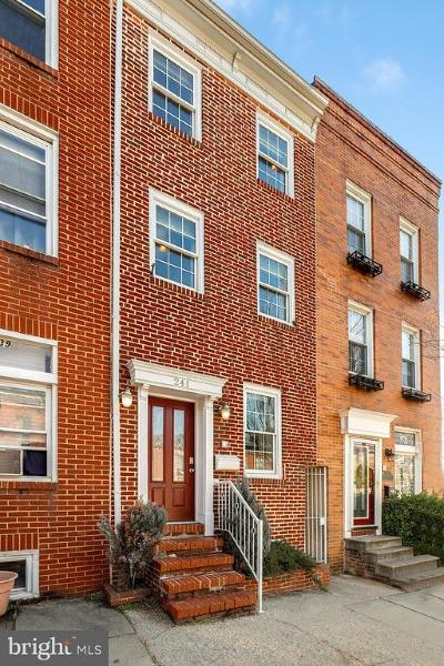 Baltimore City Townhouse For Sale: 241 S Wolfe Street