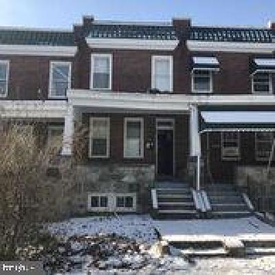 Baltimore City Townhouse For Sale: 1529 Homestead Street