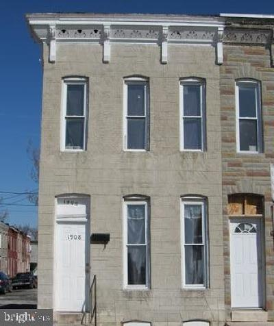 Baltimore City Rental For Rent: 1908 E Olive Street