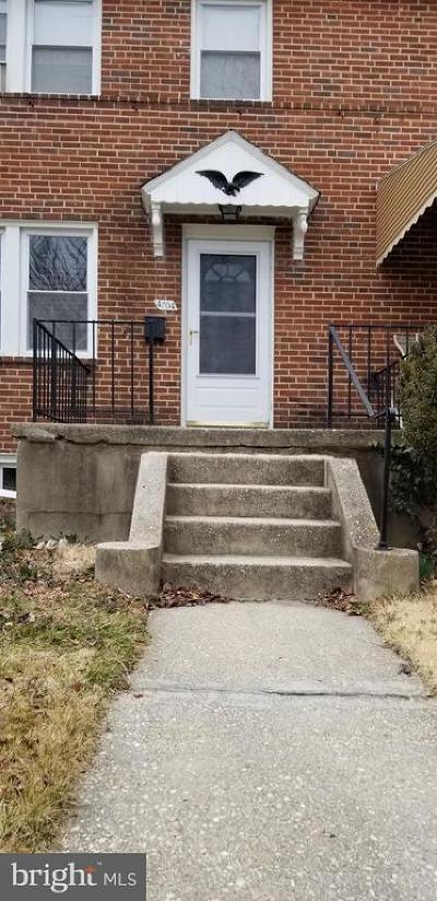 Baltimore Townhouse For Sale: 4704 Dartford Avenue