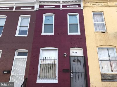 Baltimore Townhouse For Sale: 1815 N Montford Avenue