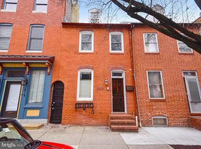 Fells Point Townhouse For Sale: 617 S Wolfe Street