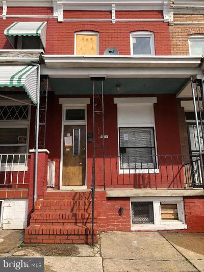 Baltimore Single Family Home For Sale: 1658 Normal Avenue