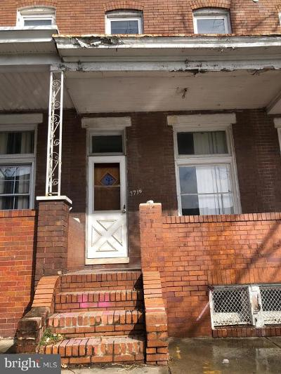 Baltimore Single Family Home For Sale: 1718 Normal Avenue