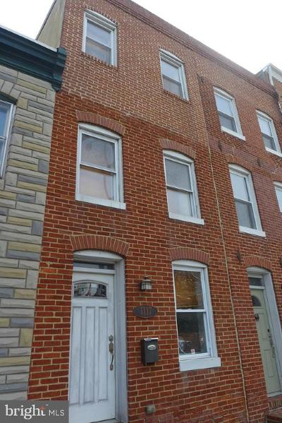 Baltimore City Townhouse For Sale: 1117 S Hanover Street