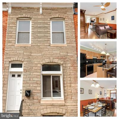 Baltimore City Townhouse For Sale: 502 S Bouldin Street