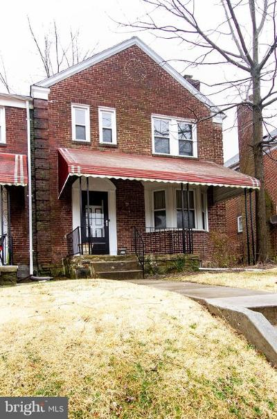 Baltimore City Townhouse For Sale: 1533 Kingsway Road