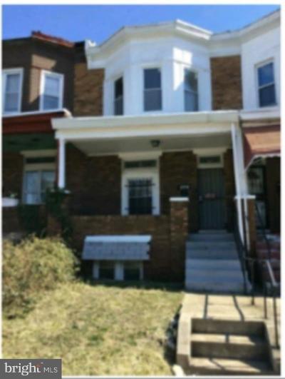 Baltimore Townhouse For Sale: 927 N Bentalou Street