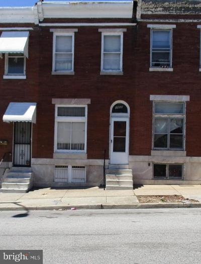 Baltimore Townhouse For Sale: 1808 N Washington Street